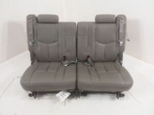 2003 2006 Chevy Tahoe 3rd Third Row Seat Leather Gray