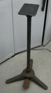 Vintage Industrial 3 Footed Cast Iron Table Stand With Foot Pedal Steampunk