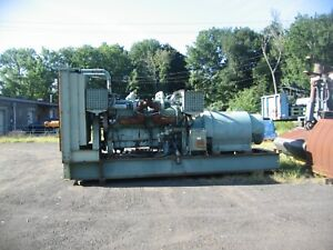 For Sale 1000 Kw Generator Volts 2400 4160 Detroit 12v149t