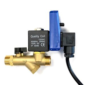 Edv Electronic Solenoid Valve Air Compressor Tank Water Drain