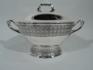 Tiffany Soup Tureen 5817 Antique Aesthetic American Sterling Silver