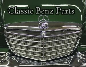 Mercedes Benz W111 Grill Moulding Trims With Clips 220 220s 220se