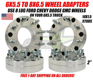 6x5 5 To 8x6 5 Wheel Adapters 14x1 5 For Chevy Gmc Sierra 1500 Yukon Silverado