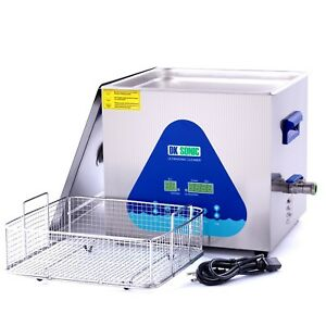 Commercial Ultrasonic Gun Cleaner Heated Dk Sonic 15l 360w Ultrasonic Carbu