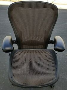 Herman Miller Aeron Mesh Chair Medium Size c Fully Adjustable Lumbar
