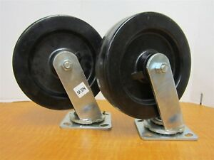 Lot Of 2 Swivel Plate 8 X 2 Casters 4 X 4 1 2 Plate New