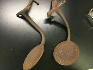 Vintage Antique Buggy Pony Horse Step Plates Horseless Carriage