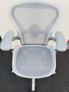 New Herman Miller Aeron Remastered Chair Mineral White Fully Adjustable W tags