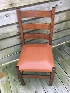 Antique Early Gustav Stickley Side Chair Model 306 1 2