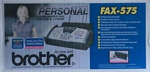 Brother Fax 575 Personal Fax Phone And Copier Factory Sealed Bonus Refill