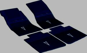 Black Pontiac Floor Mat Set 1967 1969 Firebird Gto Lemans Grand Prix Catalina
