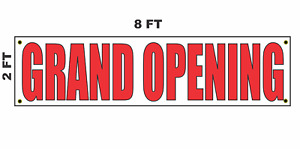 Grand Opening Banner Sign 2x8 For Business Shop Building Store Front