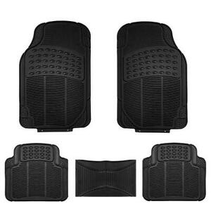 New Car Floor Mats Rubber 5pc Set Custom Fit Heavy Duty Black W Extra 1 Pc