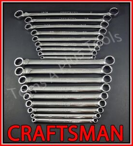 Craftsman Tools 18pc Full Polish Double Box End Sae Metric Mm Inches Wrench Set