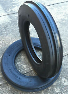 Two 400x19 4 00 19 400 19 Three Rib Ford 2n 9n Tractor Tires Heavy Duty Farm