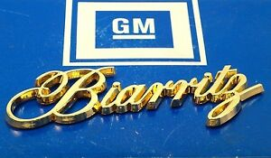 New Biarritz 79 85 24k Gold Trunk Nos Script Emblem Ornament E g Vogue