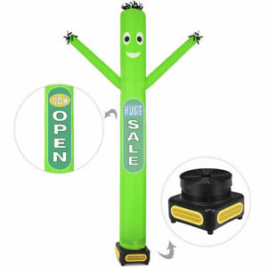 10 Ft Inflatable Puppet Dancer Tube Man Removable Slogans With Blower Green New