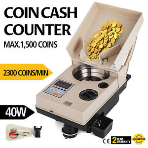 Automatic Coin Sorter Electronic Coin Counting Machine Commercial 110v Money