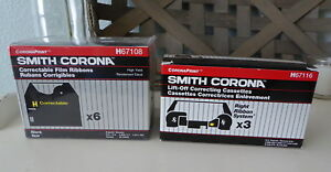 Smith Corona Typewriter Correctable Film Ribbons H 67108 Pack Of 6 New H67116