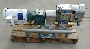 Ampco Positive Displacement Pump A Zp3 030 dm Jacketed Heated Cover Waukesha