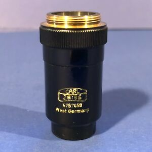 Carl Zeiss Vintage Microscope Lens 25mm 4754758 West Germany
