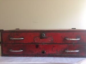 1955 Snap On Tools Kr 420 2 Drawer Tool Box Intermediate Chest