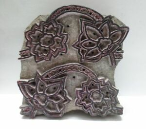Wooden Hand Carved Textile Printer Fabric Block Stamp Vintage Print Pattern L55