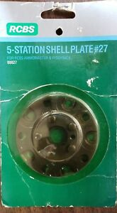 RCBS 5 Station Shell Plate #27 - 88827 Reloading Press and Press Accessories