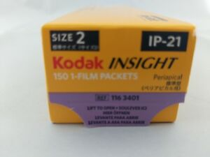 Kodak Insight Dental Film Size 2 Ip 21 Periapical 150 1 film Packets