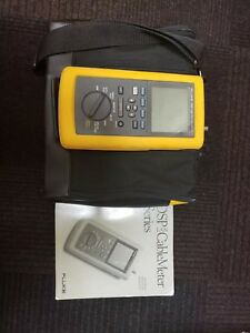 Fluke Networks Dsp 100 Lan Cable Meter Dsp sr Standard Remote And Case