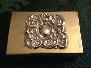 Vintage Lunt Sterling Silver 925 Match Box Matchbox Safe Case Cover Holder