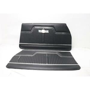 Pui Pd240 1970 1972 Chevelle Standard Front Door Panels Black