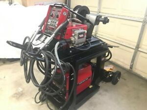Lincoln Electric Mig Welder 10m Dual Boom Power Feeder Power Wave 355m