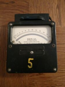 Weston Electrical Instrument Corp Model 433 Volt Meter Signal Corps Type Is 185