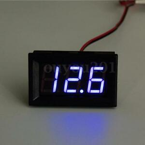 3 30v Mini Digital Blue Led Car Voltmeter Ammeter Voltage Volt Panel Meter Gauge