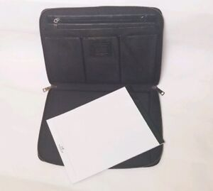 Coach Portfolio Black Leather Organizer 14x11x1
