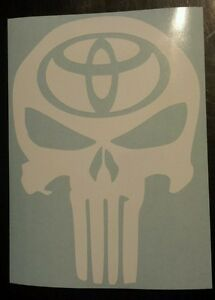 Vinyl Decal Sticker Punisher Skull Toyota Car Truck Window
