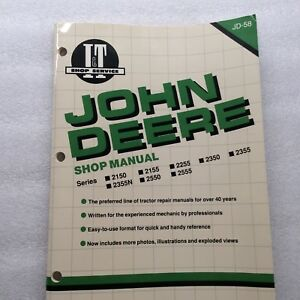 John Deere 2150 2555 Tractor Workshop Manual Jd 58