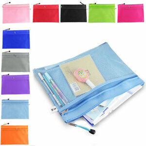 Wholesale Plastic Zipper Document Filing Folder Bag Storage Pouch A4 Size Paper