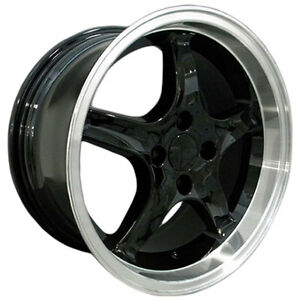 Mustang Wheel 17 x9 1995 Cobra R Style Black Dished 1979 To 1993