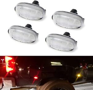 4pc Clear 48 led Wheel Fender Side Marker Lamps For 11 up F250 f550 Dual Wheel