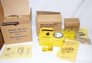 Victoreen Radiological Survey Meters Cdv 700 Cdv 715 Radiation Detection Kit