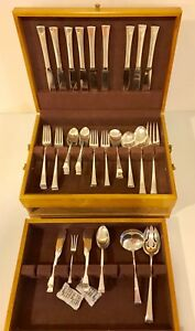 71 Pieces Of Fine Arts Tranquility Sterling Silver Flatware Set Service Of 9