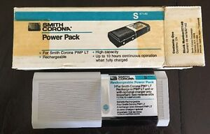 Smith Corona Pwp Lt Power Pack S 67140 Rechargable Replacement Battery New Rare