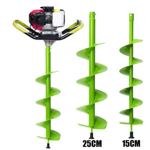 6 10 Auger Drill Digging Bit Electric Post Hole Digger Soil Ice Fence Decks
