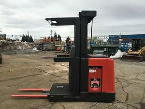 2007 Raymond Order Picker 3000lb Cap 210 Lift 42 Forks w battery Chgr 24v