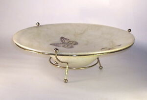 Mid Century Atomic Flying Saucer Hors D Oeuvre Tripod Dish 50s Early 60s