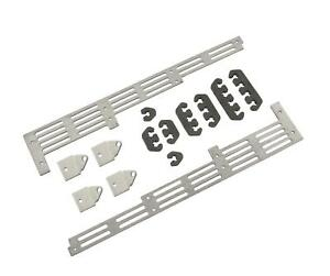 Mr Gasket 6018 Universal Spark Plug Wire Divider Bracket Set Brushed Aluminum