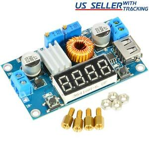Xl4015 5a Dc Buck Step Down Power Converter Voltage Current Led Voltmeter Usb
