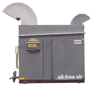 Atlas Copco Zt 75 100hp 125 Psi Oil Free Air Rotary Tooth Compressor 8972451285
